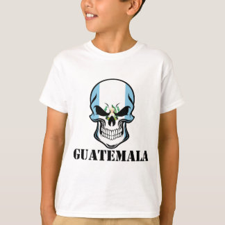 Camiseta Crânio guatemalteco Guatemala da bandeira