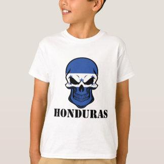 Camiseta Crânio Honduras da bandeira do Honduran