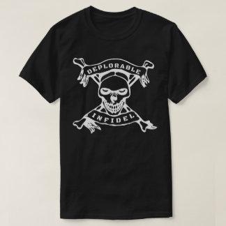 Camiseta Crânio infiel deplorável & trunfo dos ossos da