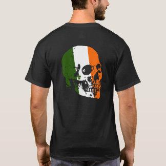 Camiseta Crânio irlandês da bandeira da cruz celta