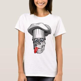 Camiseta Crânio louco do cozinheiro chefe