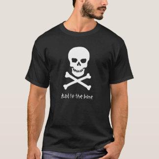 Camiseta Crânio - mau ao t-shirt do preto de osso