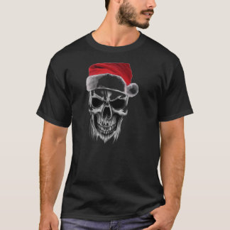 Camiseta Crânio mau do papai noel