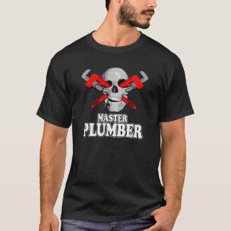 Camiseta Crânio mestre dos canalizador