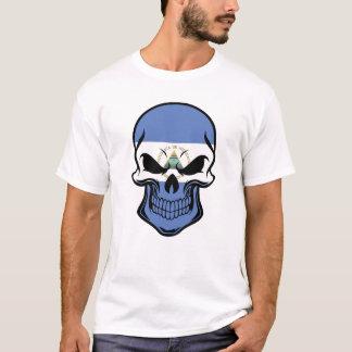 Camiseta Crânio nicaraguense da bandeira