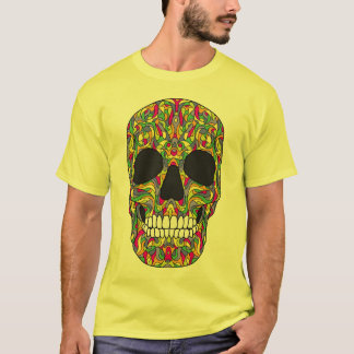 Camiseta Crânio psicadélico