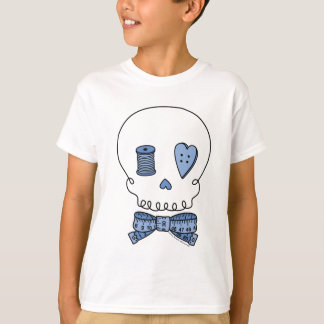 Camiseta Crânio Sewing (azul)