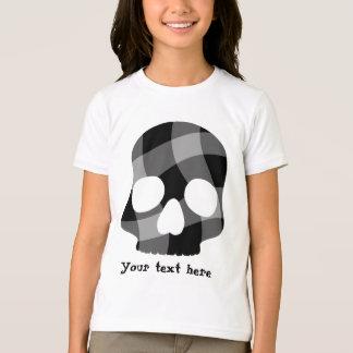 Camiseta Crânio torcido punk do guingão para miúdos