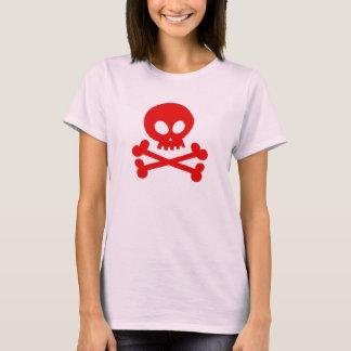 Camiseta Crânio-vermelho