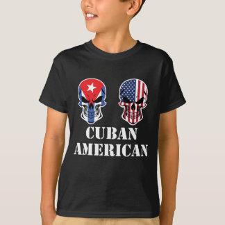 Camiseta Crânios cubanos da bandeira americana