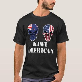 Camiseta Crânios da bandeira americana do quivi