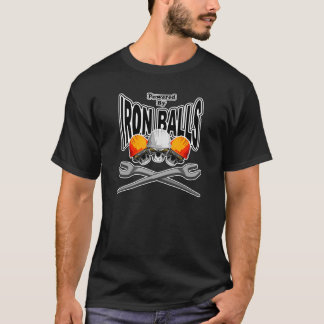 Camiseta Crânios do Ironworker: Bolas do ferro