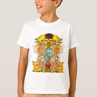 Camiseta Crânios e polvo