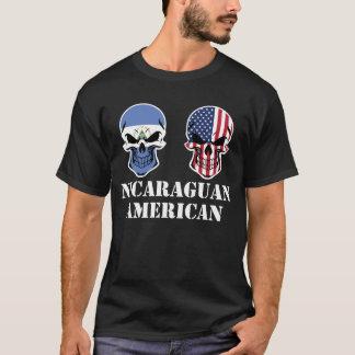 Camiseta Crânios nicaraguenses da bandeira americana