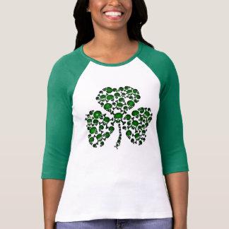 Camiseta Crânios verdes do trevo