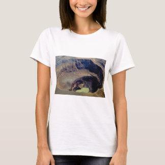 Camiseta cratera vulcânica profunda