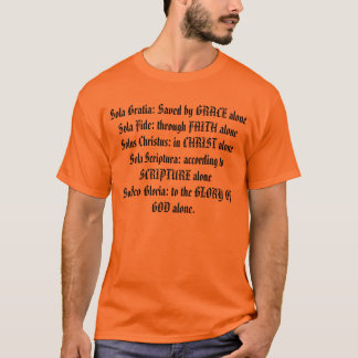 Camiseta Credo 5 SOLAS T do protestante