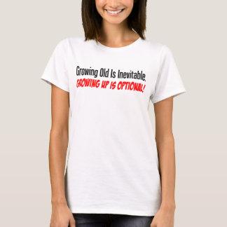 Camiseta Crescer acima é opcional