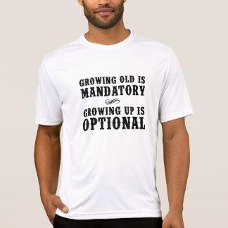 Camiseta Crescer velho é imperativo, crescendo acima é