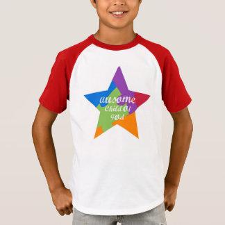 Camiseta Criança de Ausome do Tshirt da estrela do deus