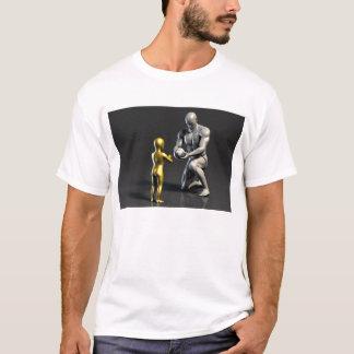 Camiseta Criança de ensino do pai como um conceito em 3D