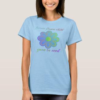 Camiseta Criança de flor anterior ida semear