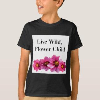 Camiseta Criança de flor selvagem viva