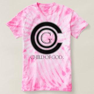 Camiseta Criança do tiedye do ciclone das mulheres do DEUS
