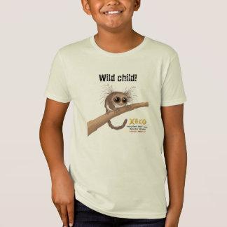 Camiseta Criança selvagem - Lemur Peludo-orelhudo do anão
