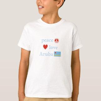 Camiseta Crianças do amor e da Aruba da paz