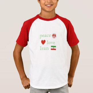 Camiseta Crianças do amor e do Irã da paz