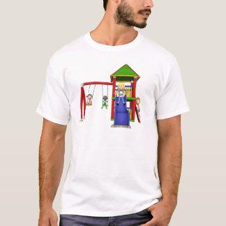 Camiseta Crianças dos desenhos animados em um campo de