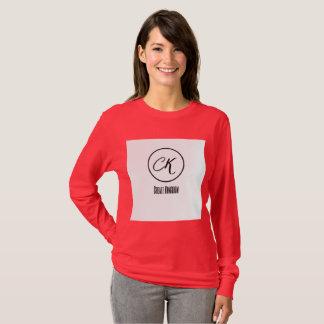 Camiseta criar o t-shirt longo da obscuridade da luva das
