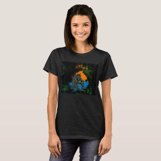 Camiseta Criatura da variação preta t-shirt2 da lagoa