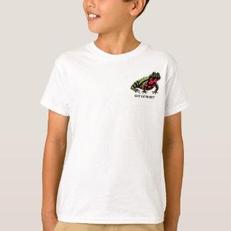 Camiseta Críquete obtidos (sapo da barriga do fogo)