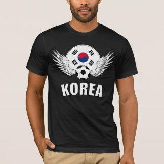 Camiseta Crista coreana do futebol (escura)