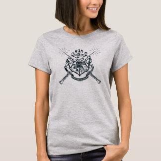 Camiseta Crista cruzada Hogwarts das varinhas de Harry