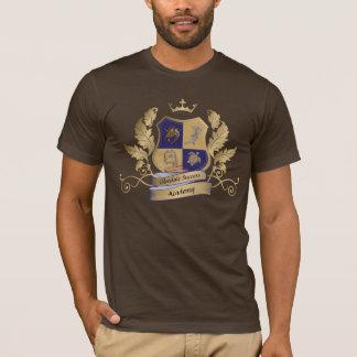 Camiseta Crista da casa de GSA nenhum ouro do azul das asas