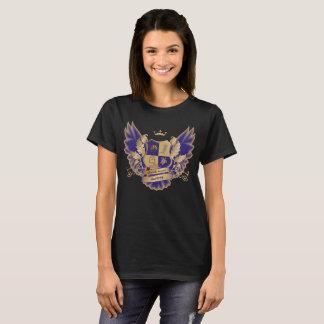 Camiseta Crista da casa de GSAs com as asas azuis da coruja