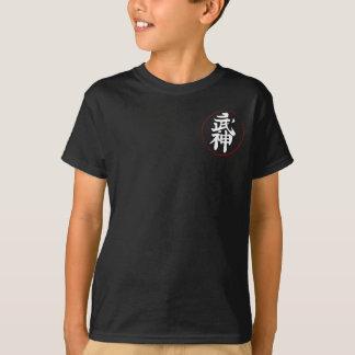 Camiseta Crista de Bujinkan no preto [miúdos]