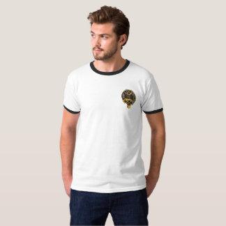 Camiseta Crista de Fraser do clã - parte dianteira e parte