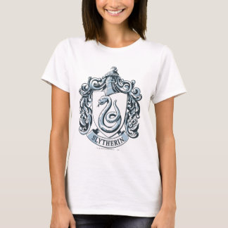 Camiseta Crista de Harry Potter | Slytherin - azul de gelo