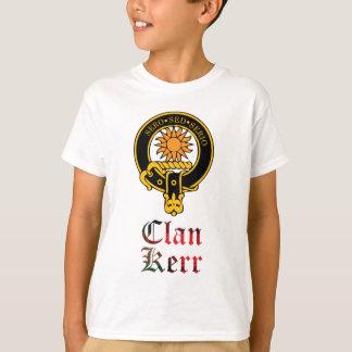 Camiseta Crista de Kerr e nome escoceses do clã do tartan