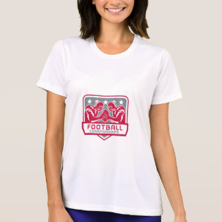 Camiseta Crista do campeonato do futebol americano retro