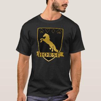 Camiseta Crista do póquer H.O.R.S.E do ouro