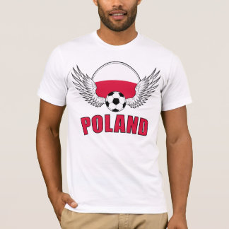 Camiseta Crista polonesa do futebol (luz)