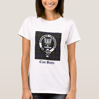 Camiseta Crista & Tartan de Boyle do clã