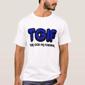 Camiseta Cristão, deus do obrigado de TGIF eu sou perdoado