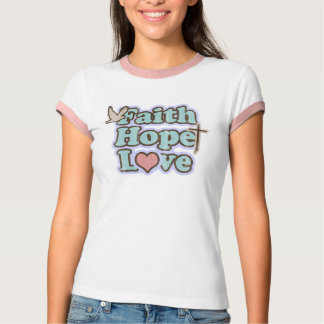 Camiseta Cristão do amor da esperança da fé