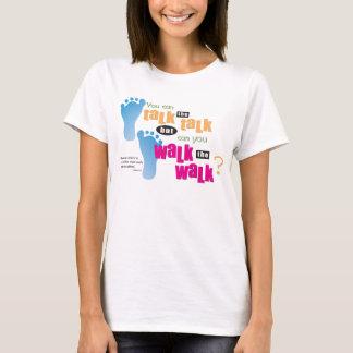 Camiseta Cristão - fale a conversa & ande a caminhada